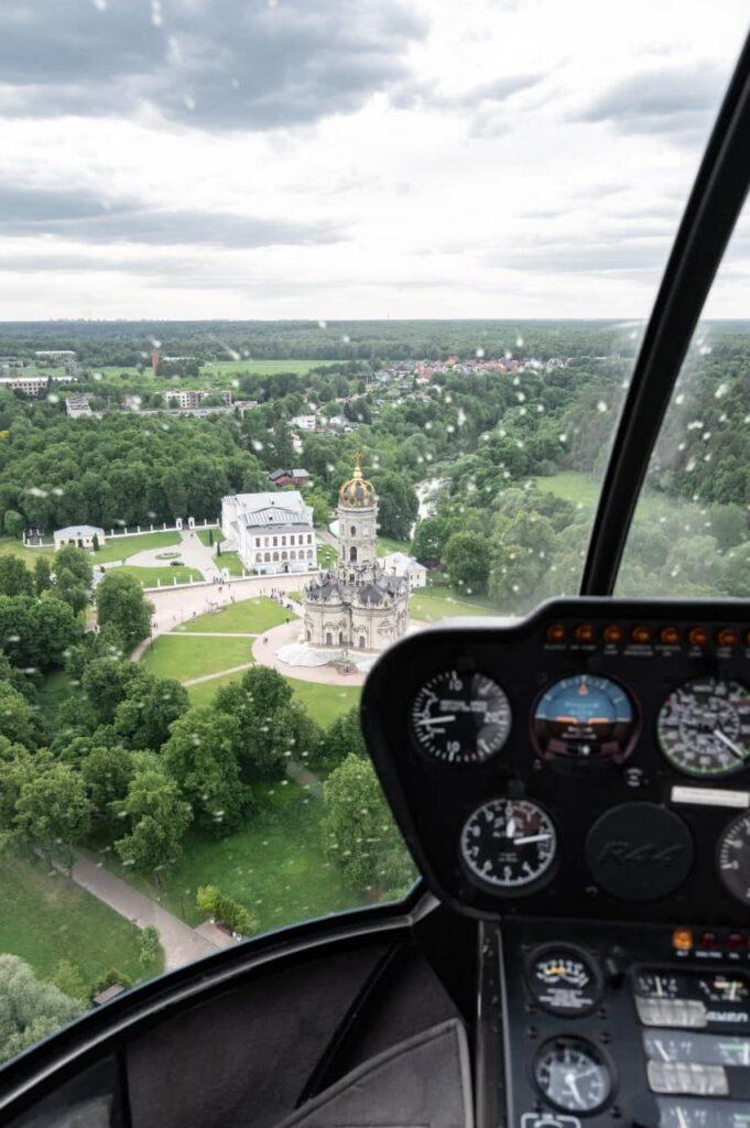 Дубровицы из кабины вертолета
