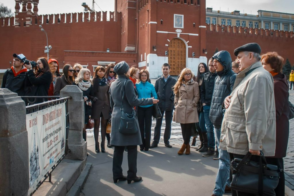 Групповое фот с обзорной экскурсии по Москве