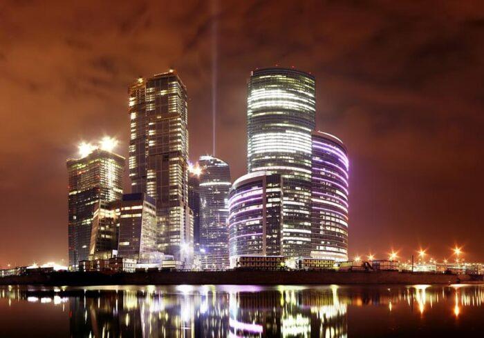 """Москва-Сити ночью на экскурсии от Экскурсионного бюро """"Captour"""""""