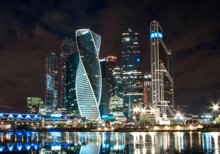 Москва-Сити на ночной обзорной экскурсии по Москве