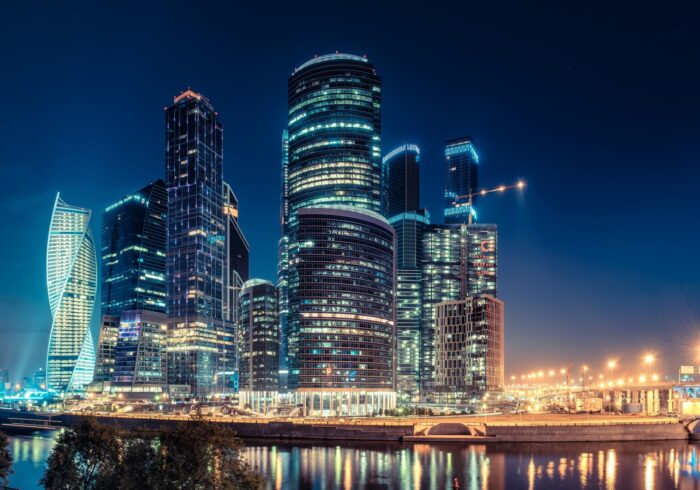 """Москва-сити ночью на туре в Москву от Экскурсионного бюро """"Captour"""""""