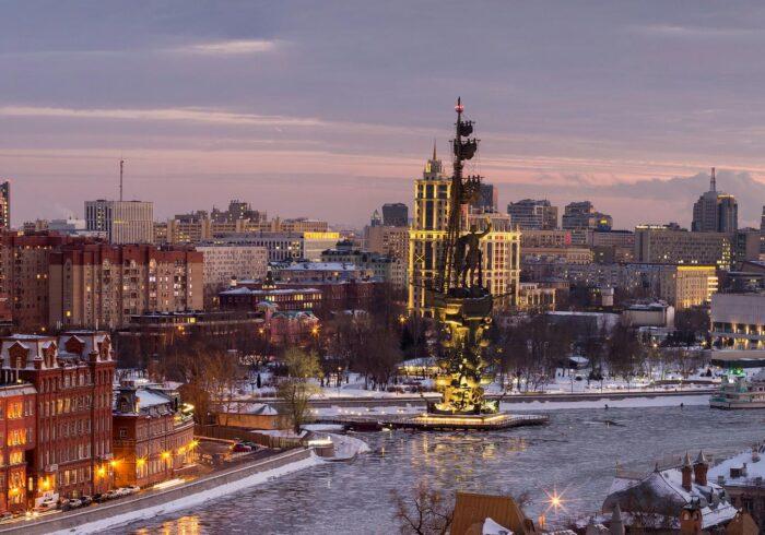 Вид со смотровой площадки Храма Христа Спасителя на экскурсии