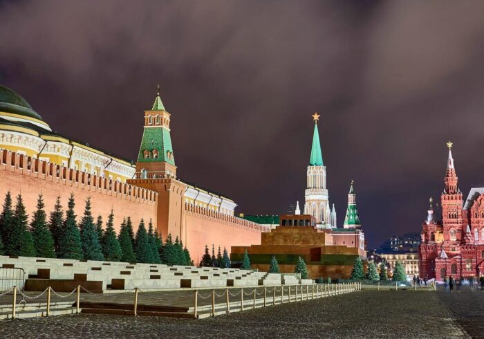 Фотография Красной площади вечером в Москве