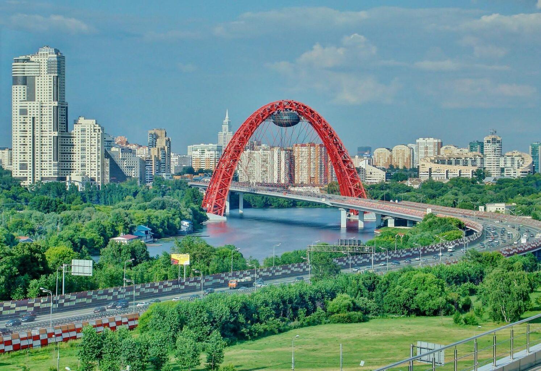 """Мост Москвы на вертолетной прогулки от Экскурсионного бюро """"Captour"""""""