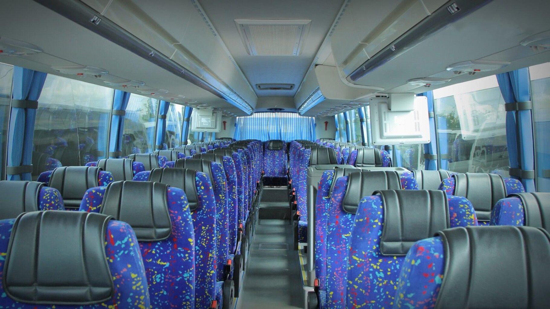 """Салон больших автобусы для экскурсии от Экскурсионного бюро """"Captour"""""""