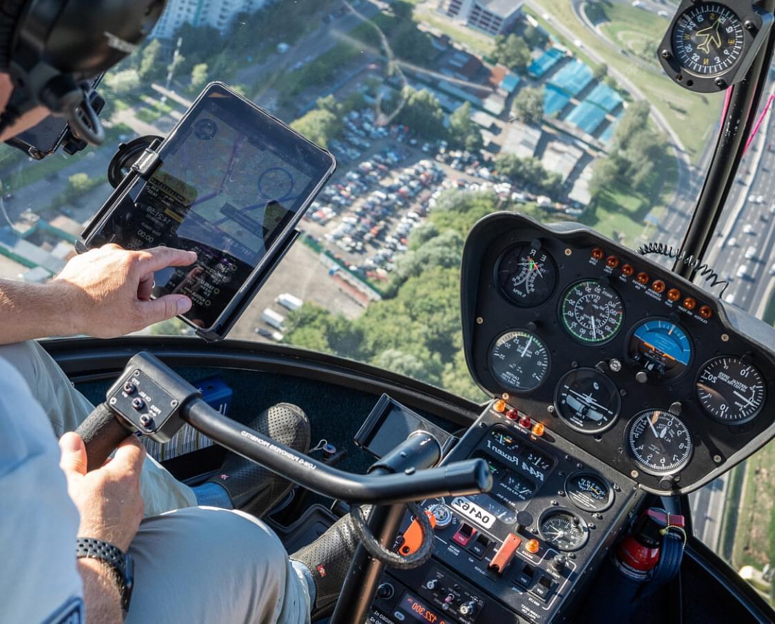 """Вид из кабины вертолета на вертолетной прогулке от Экскурсионного бюро """"Captour"""""""