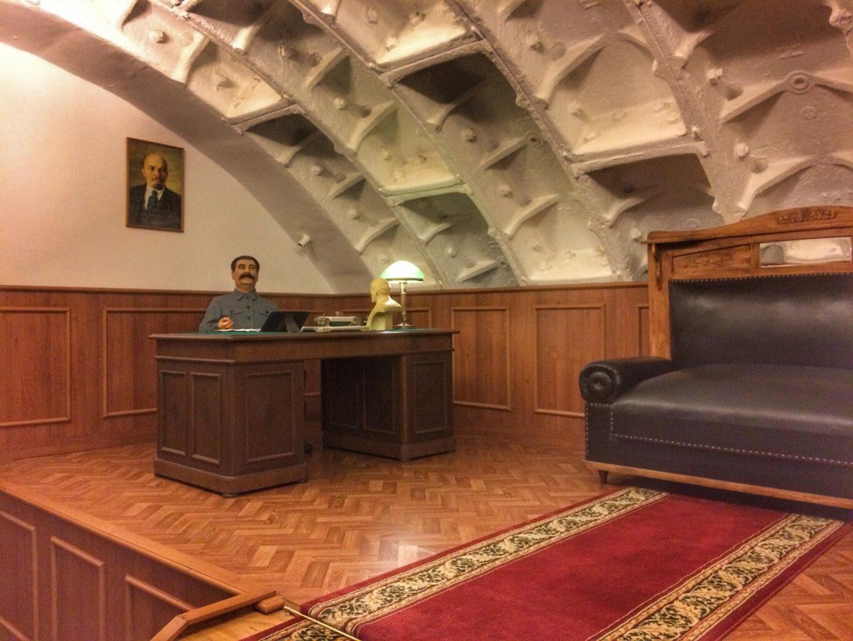 """Кабинет Сталина в Бункере-42 на Таганке на экскурсии от Экскурсионного бюро """"Captour"""""""