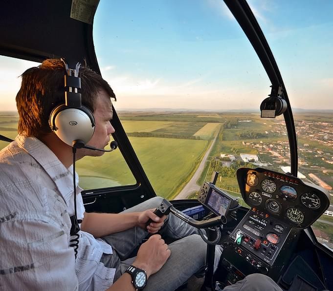 "Мастер-класс на вертолете Robinson R44 от компании ""Captour"""