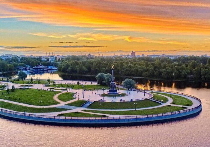 """Панорама Ярославля на экскурсии от Экскурсионного бюро """"Captour"""""""