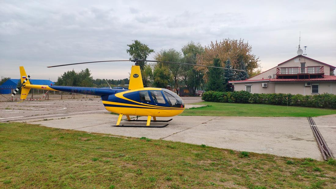 """Фото вертолета перед взлетом в тренировочный лагерь от компании """"Captour"""""""