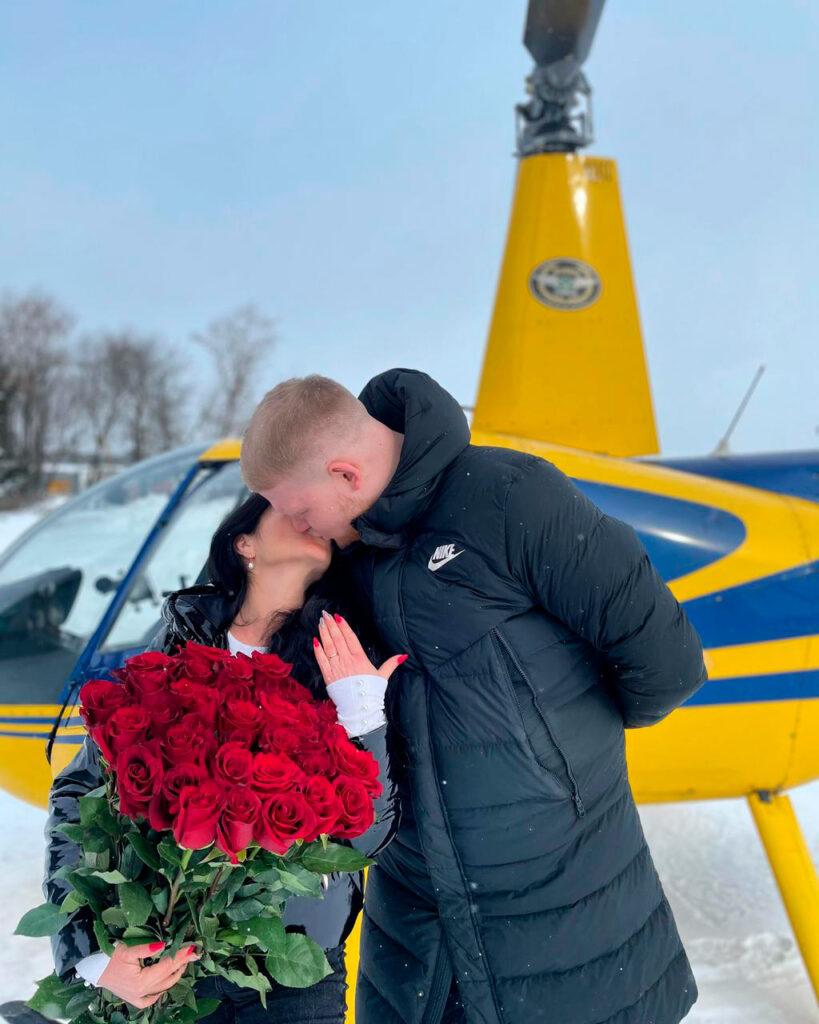 """Фото после предложения в вертолете от компании """"Captour"""""""