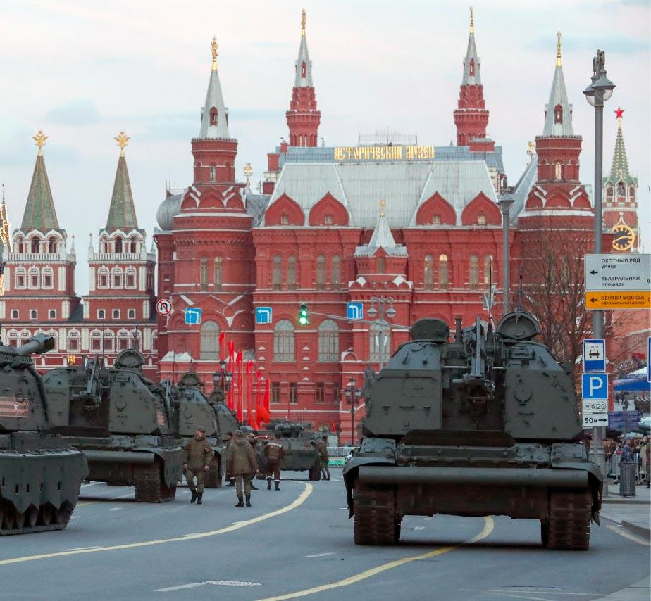Военная техника у Красной площади