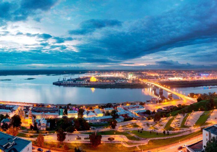"""Панорама Нижнего Новгорода с высоты из вертолёта от компании """"Captour"""