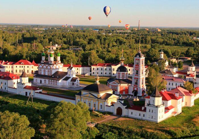 Панорама Ростова Великого с высоты