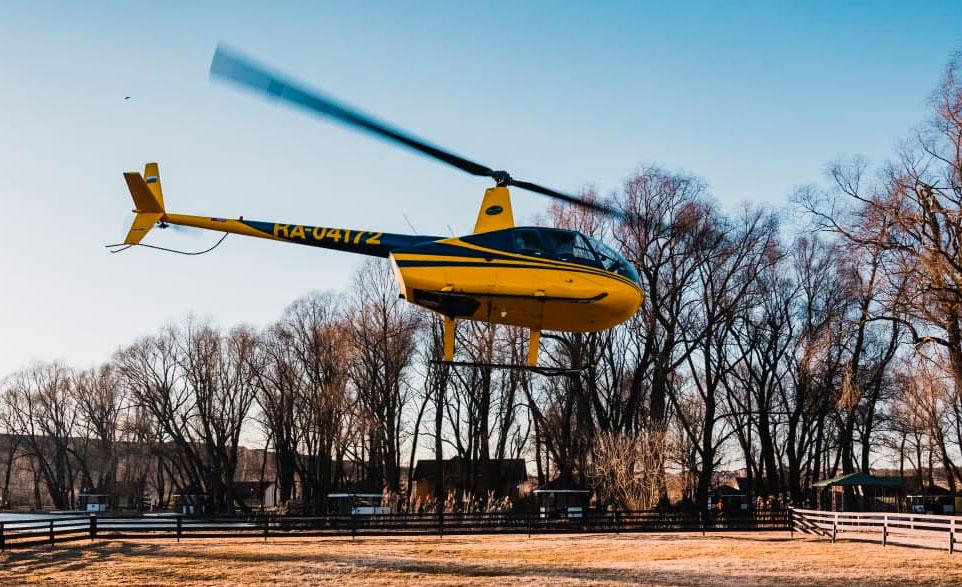 """Полет вертолёта Robinson R44 от компании """"Captour"""""""