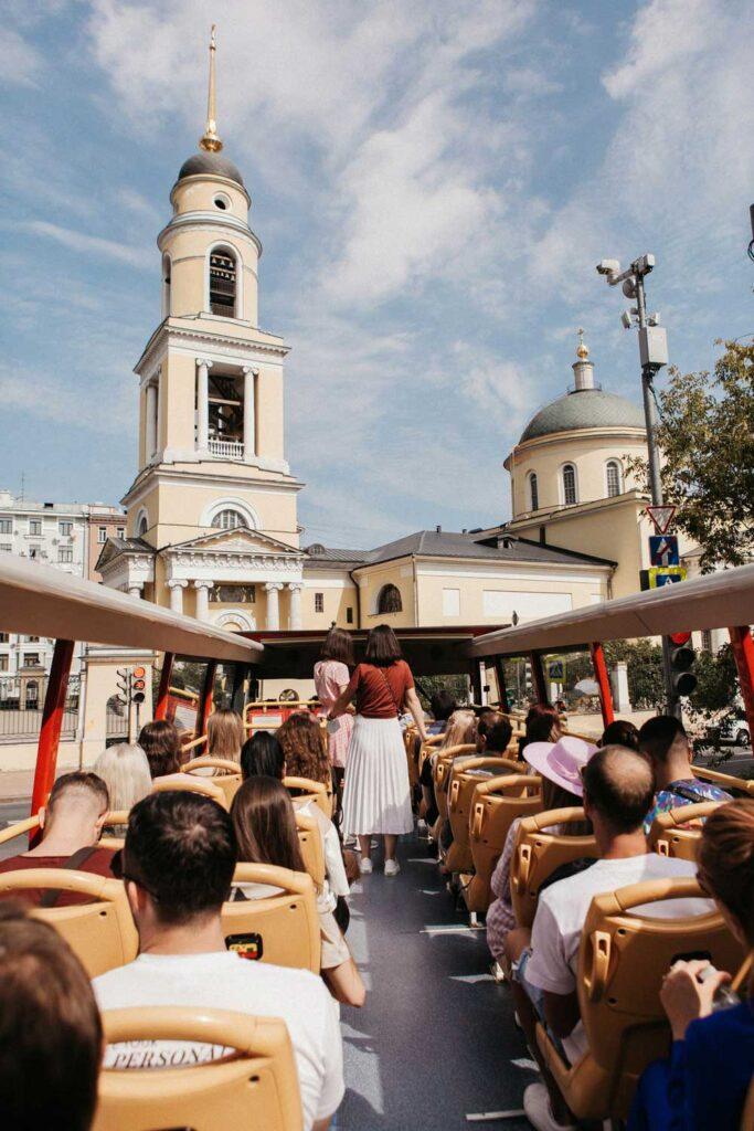 Фото с экскурсии по Москве на двухэтажном автобусе